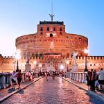 Castel Sant'Angelo al tramonto