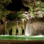 Tivoli Villa d'Este by night, Fontana dell'Ovato