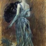 Giovanni Boldini - Signora bionda in abito da sera