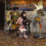 Giovanni Boldini - Il Matador, Coppia in abiti spagnoli con due pappagalli