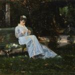 Giovanni Boldini - Alaide Banti sulla panchina