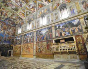 Cappella Sistina con Arazzi di Raffaello